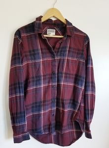 Vans plaid button down shirt